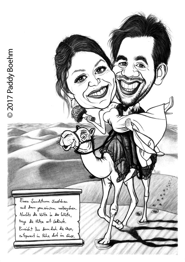 Paddy Boehm Caricatures From Photo